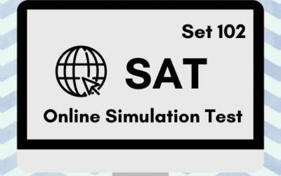 SAT Online Simulation Test 102