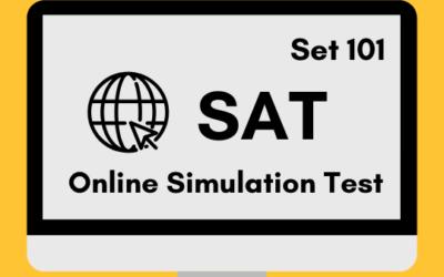 SAT Online Simulation Test 101